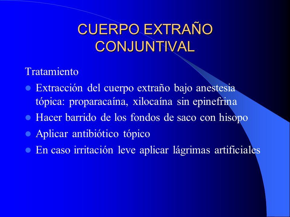 CUERPO EXTRAÑO CONJUNTIVAL