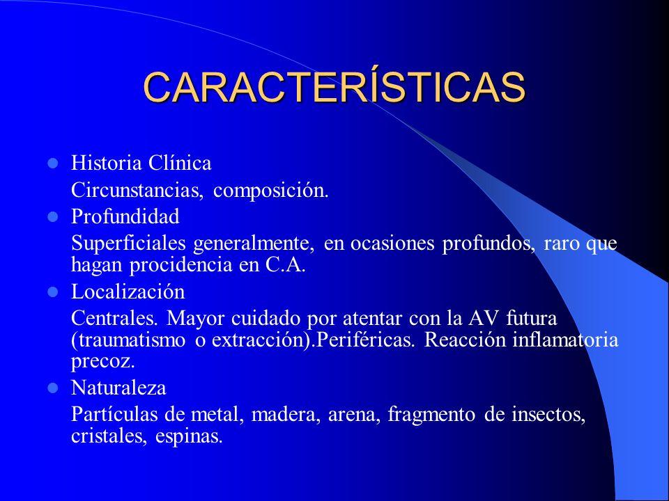 CARACTERÍSTICAS Historia Clínica Circunstancias, composición.