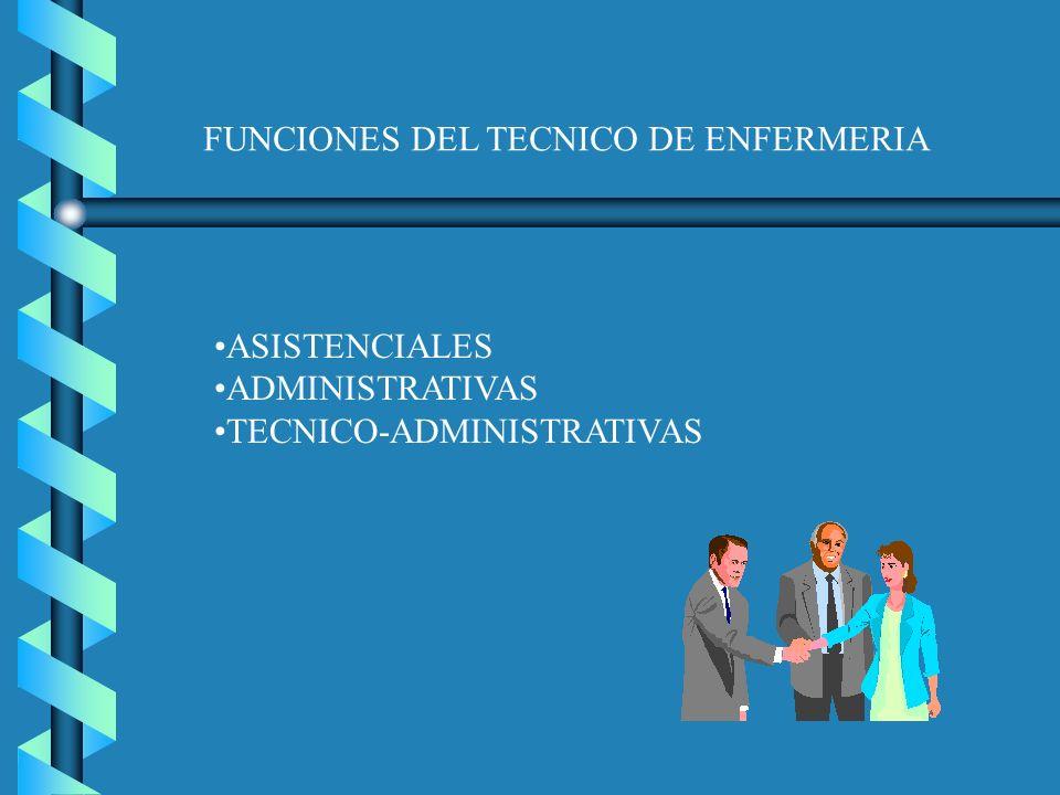 FUNCIONES DEL TECNICO DE ENFERMERIA