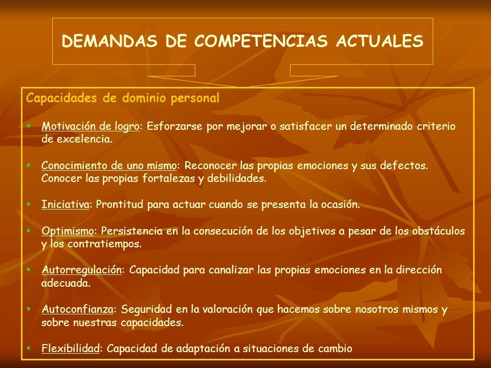 DEMANDAS DE COMPETENCIAS ACTUALES