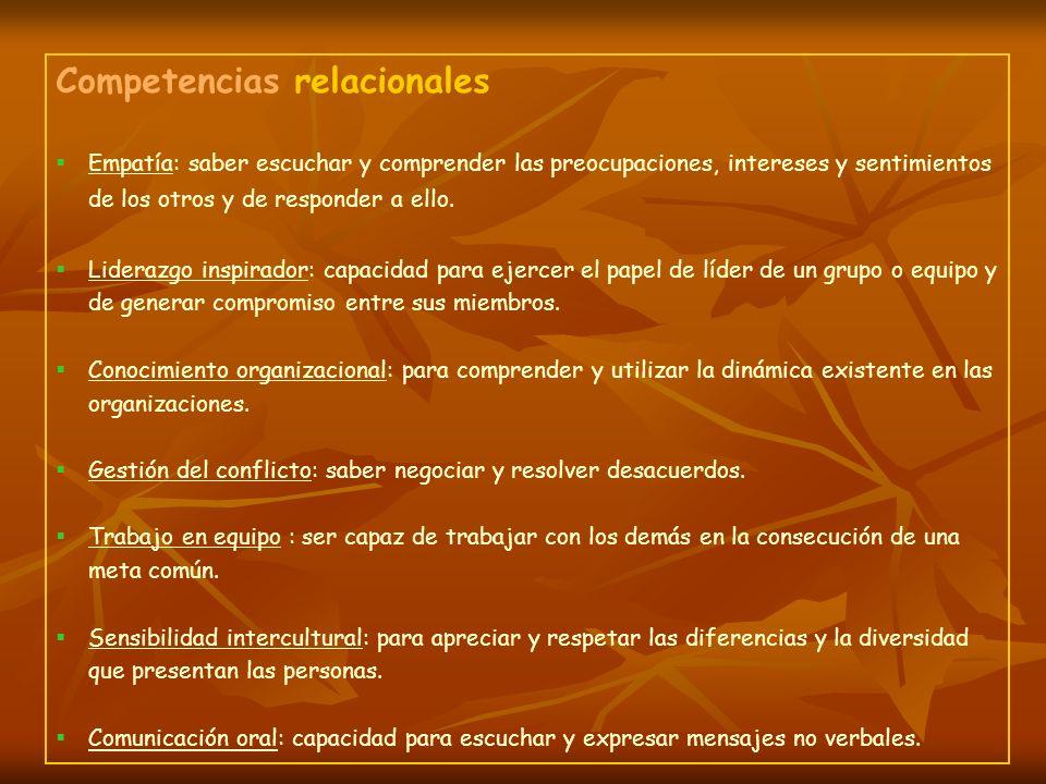 Competencias relacionales