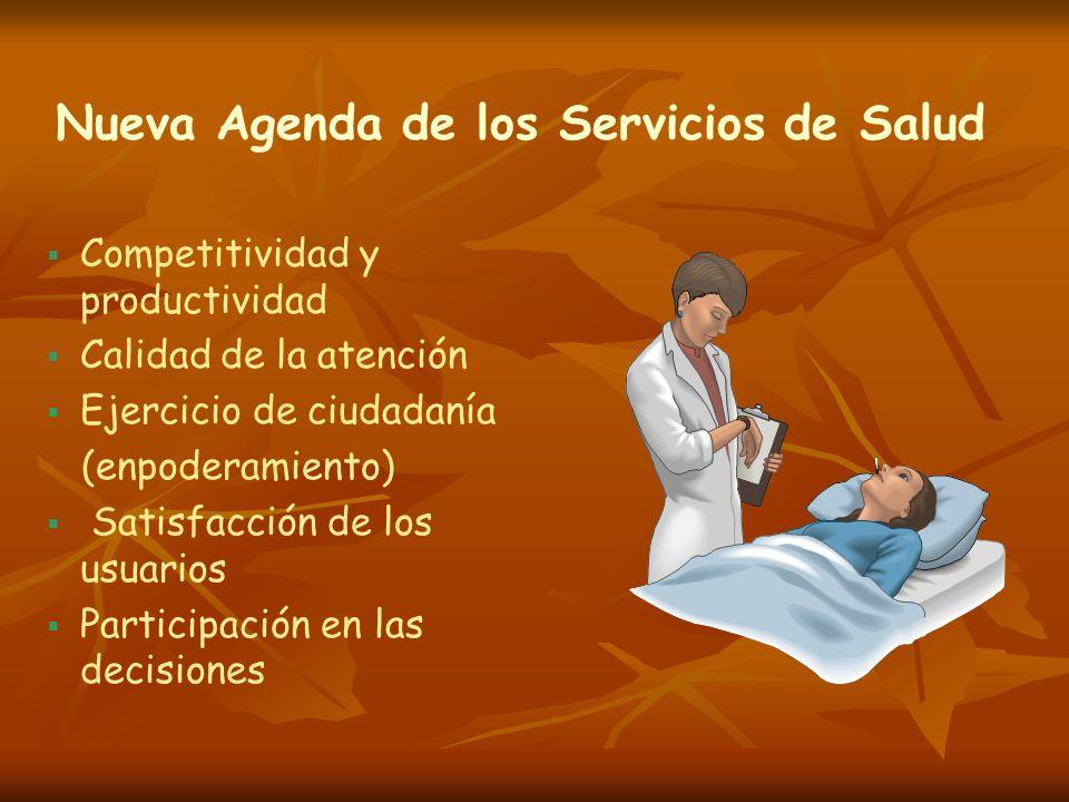 Nueva Agenda de los Servicios de Salud