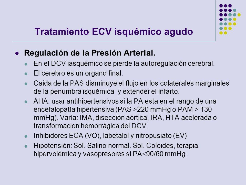 Tratamiento ECV isquémico agudo