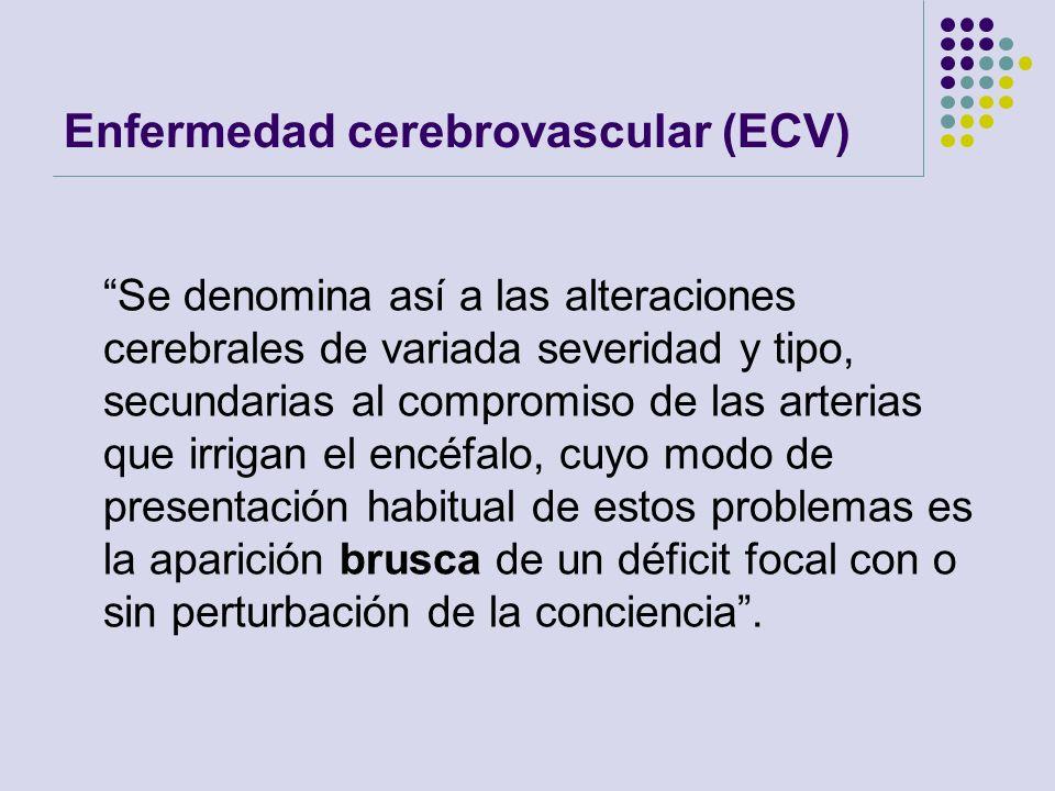 Enfermedad cerebrovascular (ECV)