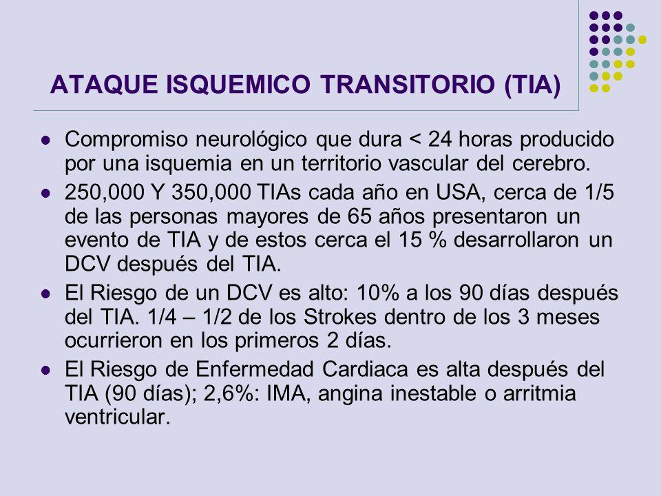 ATAQUE ISQUEMICO TRANSITORIO (TIA)