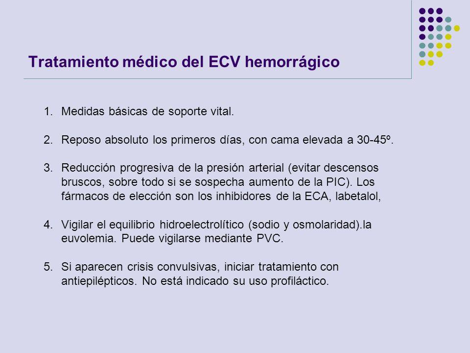 Tratamiento médico del ECV hemorrágico