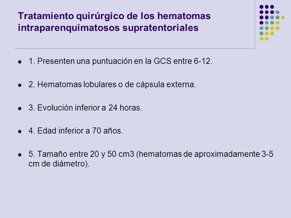 Tratamiento quirúrgico de los hematomas intraparenquimatosos supratentoriales