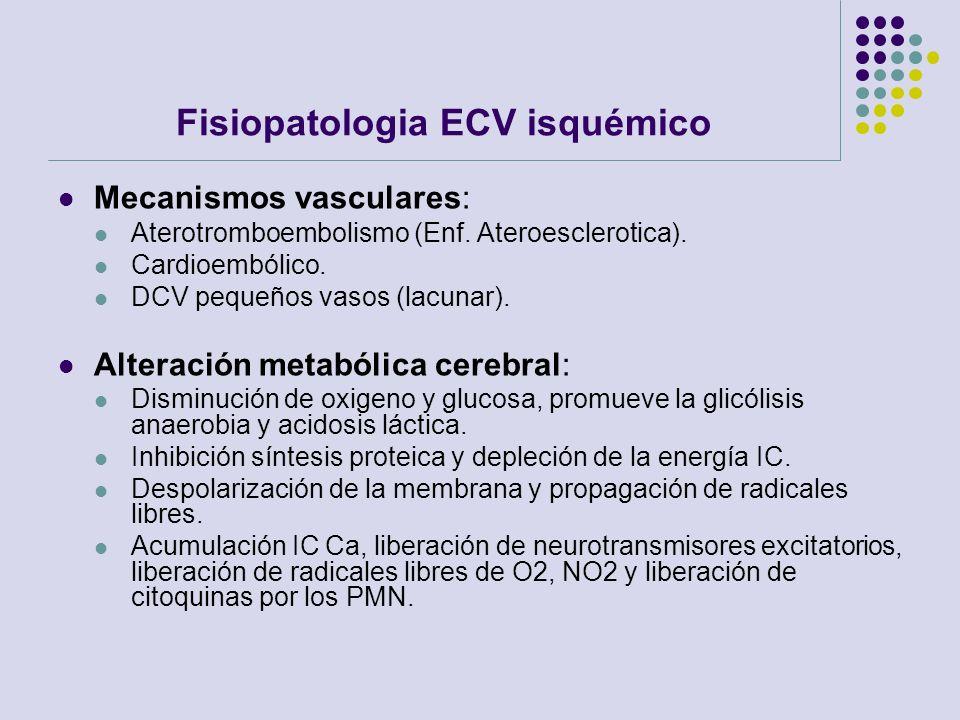 Fisiopatologia ECV isquémico