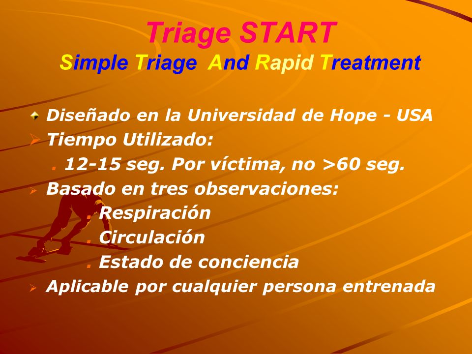 Triage START Simple Triage And Rapid Treatment