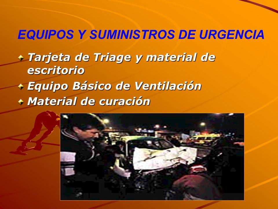 EQUIPOS Y SUMINISTROS DE URGENCIA