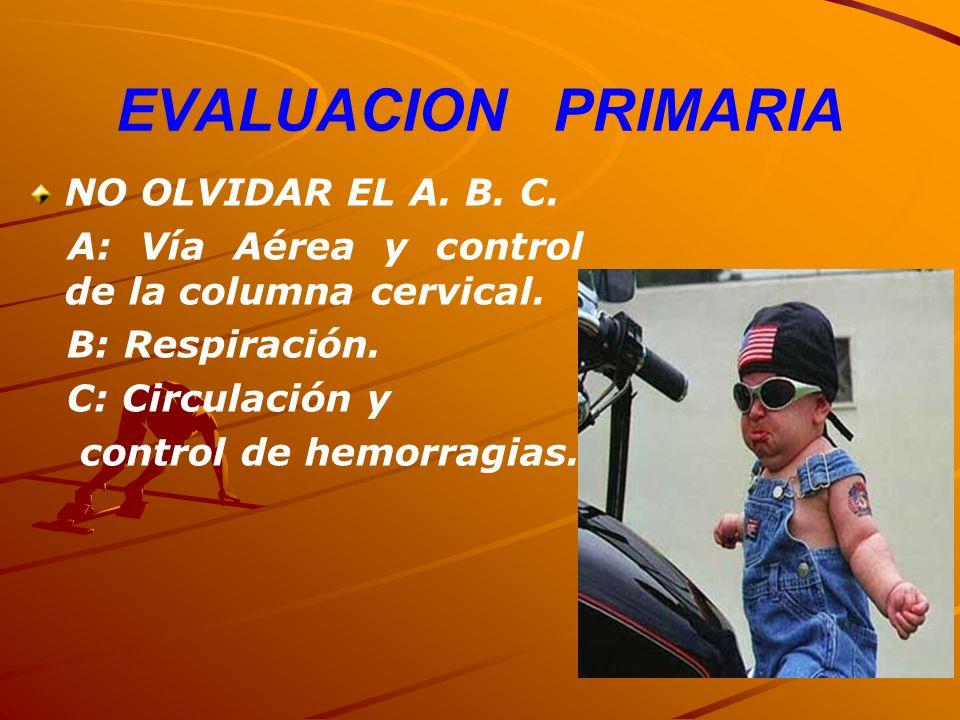 EVALUACION PRIMARIA NO OLVIDAR EL A. B. C.