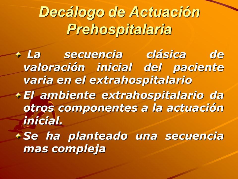 Decálogo de Actuación Prehospitalaria