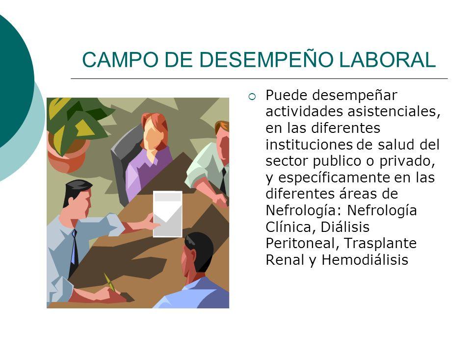 CAMPO DE DESEMPEÑO LABORAL