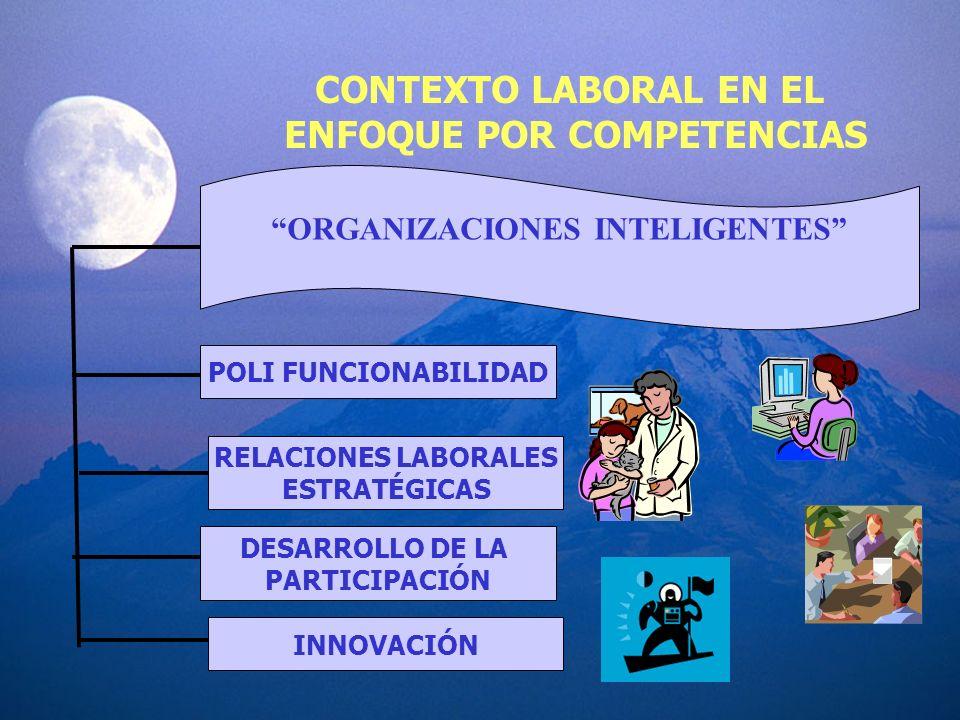 ENFOQUE POR COMPETENCIAS ORGANIZACIONES INTELIGENTES