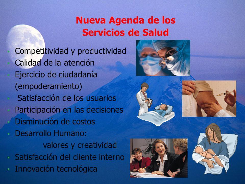 Nueva Agenda de los Servicios de Salud Competitividad y productividad