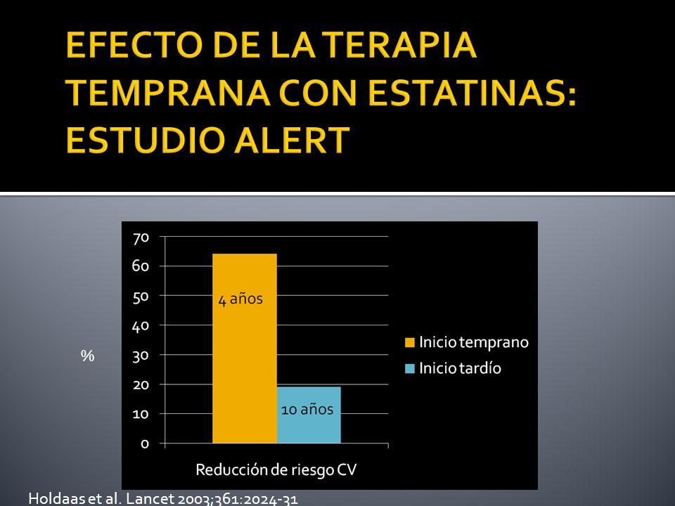 EFECTO DE LA TERAPIA TEMPRANA CON ESTATINAS: ESTUDIO ALERT
