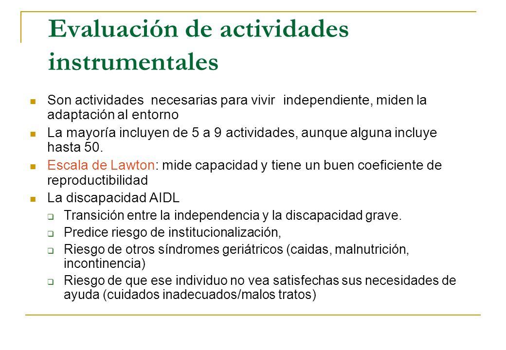Evaluación de actividades instrumentales
