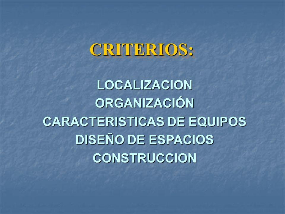 CARACTERISTICAS DE EQUIPOS