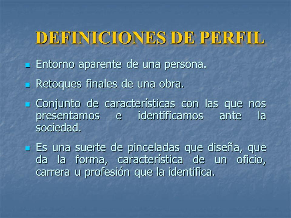 DEFINICIONES DE PERFIL
