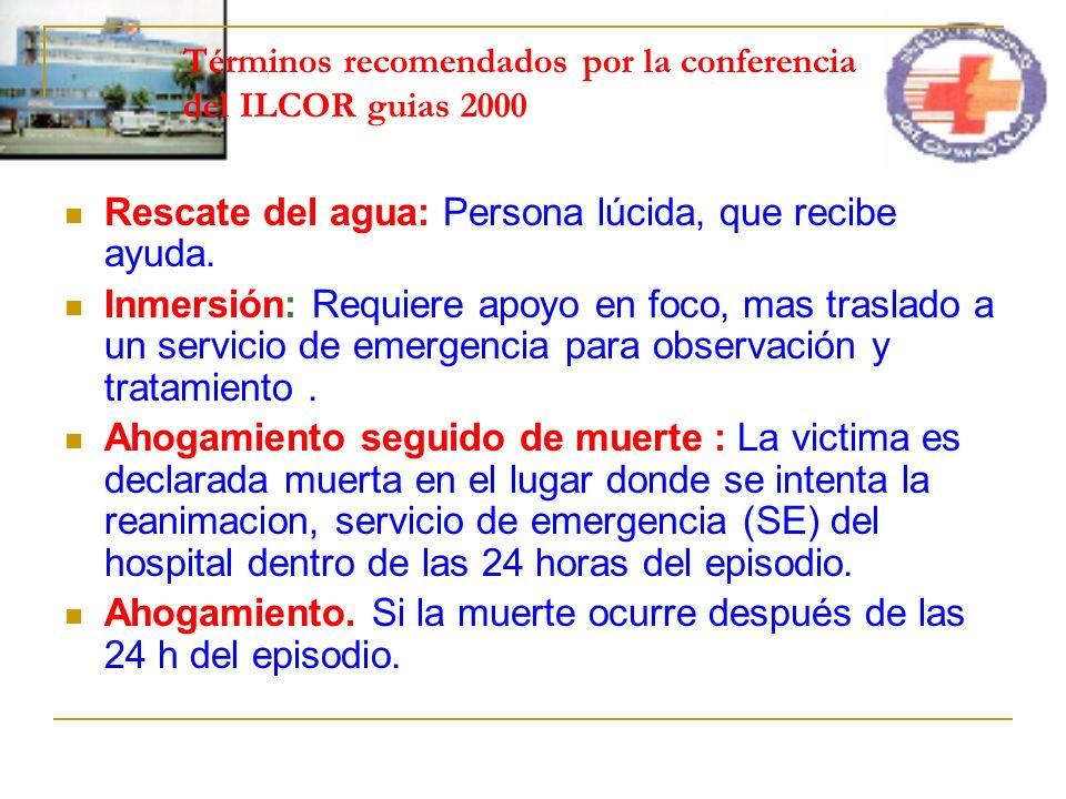Términos recomendados por la conferencia del ILCOR guias 2000