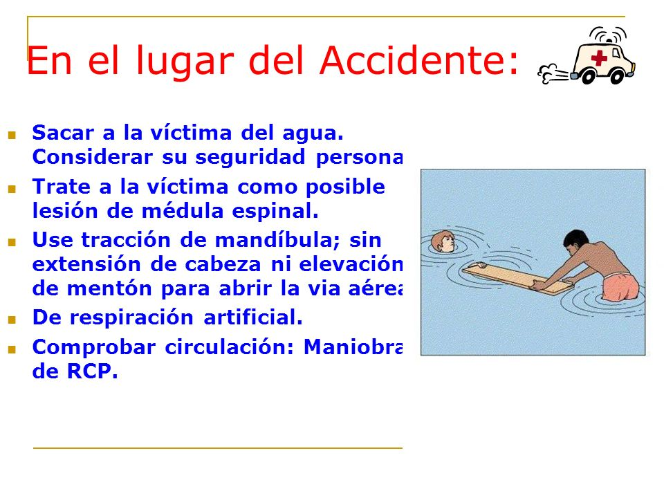 En el lugar del Accidente:
