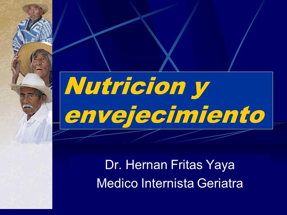 Nutricion y envejecimiento