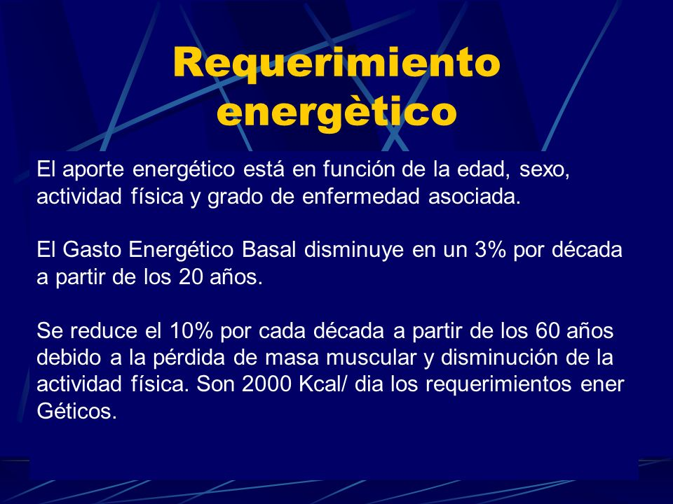 Requerimiento energètico