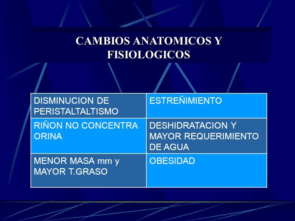 CAMBIOS ANATOMICOS Y FISIOLOGICOS