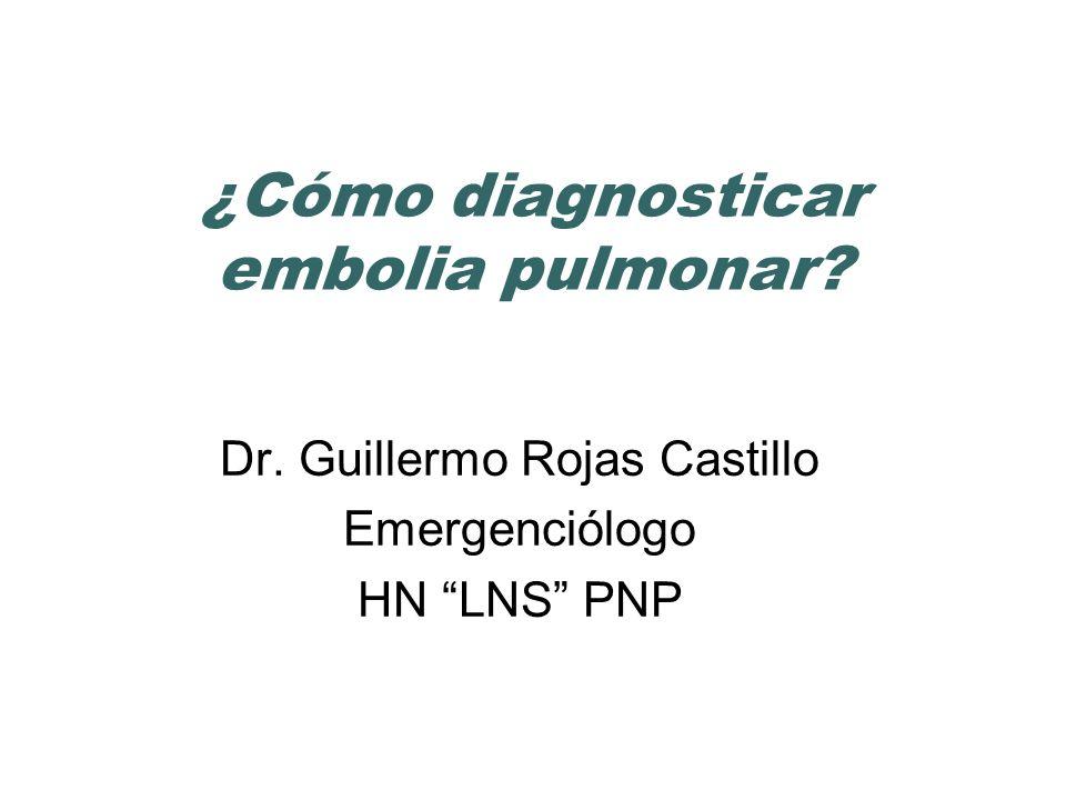 ¿Cómo diagnosticar embolia pulmonar