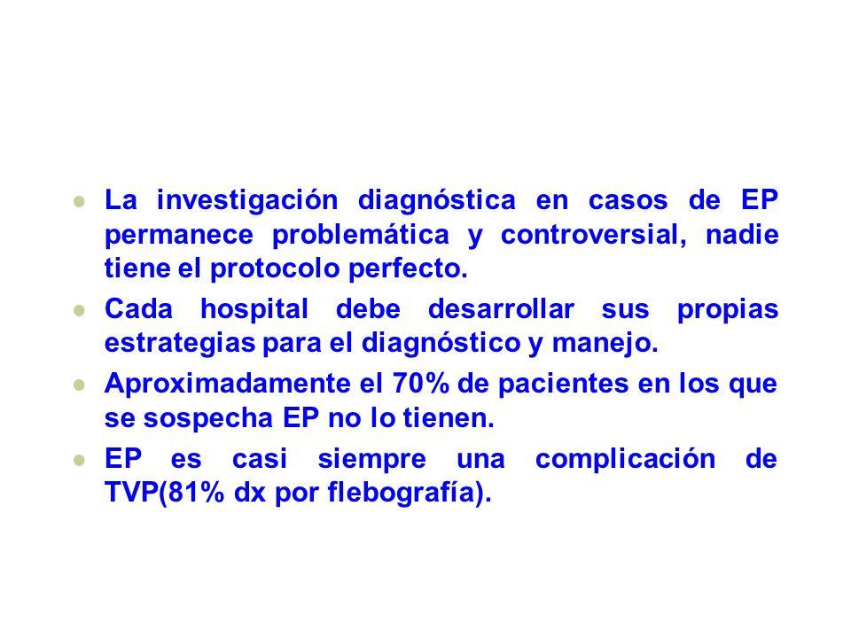 La investigación diagnóstica en casos de EP permanece problemática y controversial, nadie tiene el protocolo perfecto.