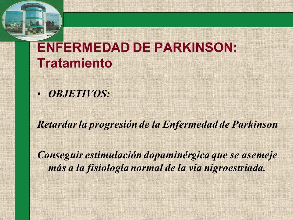 ENFERMEDAD DE PARKINSON: Tratamiento