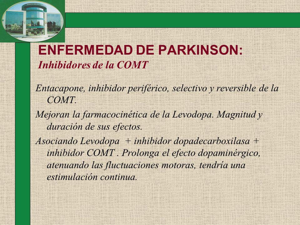ENFERMEDAD DE PARKINSON: Inhibidores de la COMT