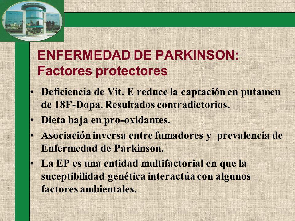 ENFERMEDAD DE PARKINSON: Factores protectores