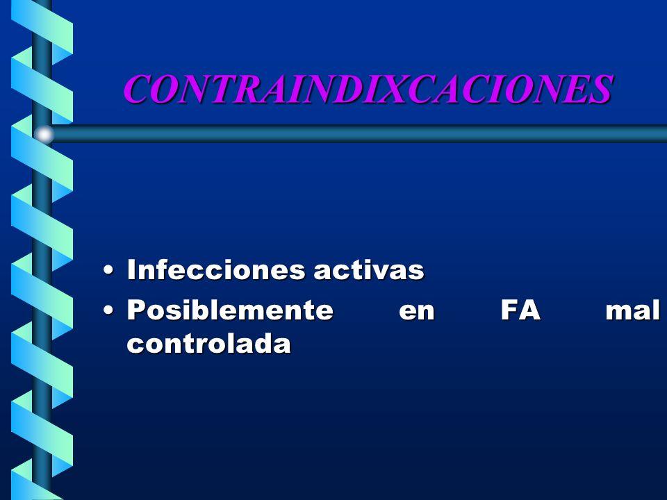 CONTRAINDIXCACIONES Infecciones activas