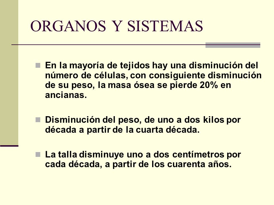ORGANOS Y SISTEMAS