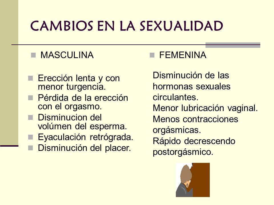 CAMBIOS EN LA SEXUALIDAD