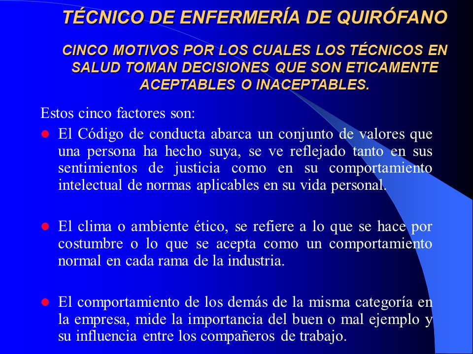 TÉCNICO DE ENFERMERÍA DE QUIRÓFANO