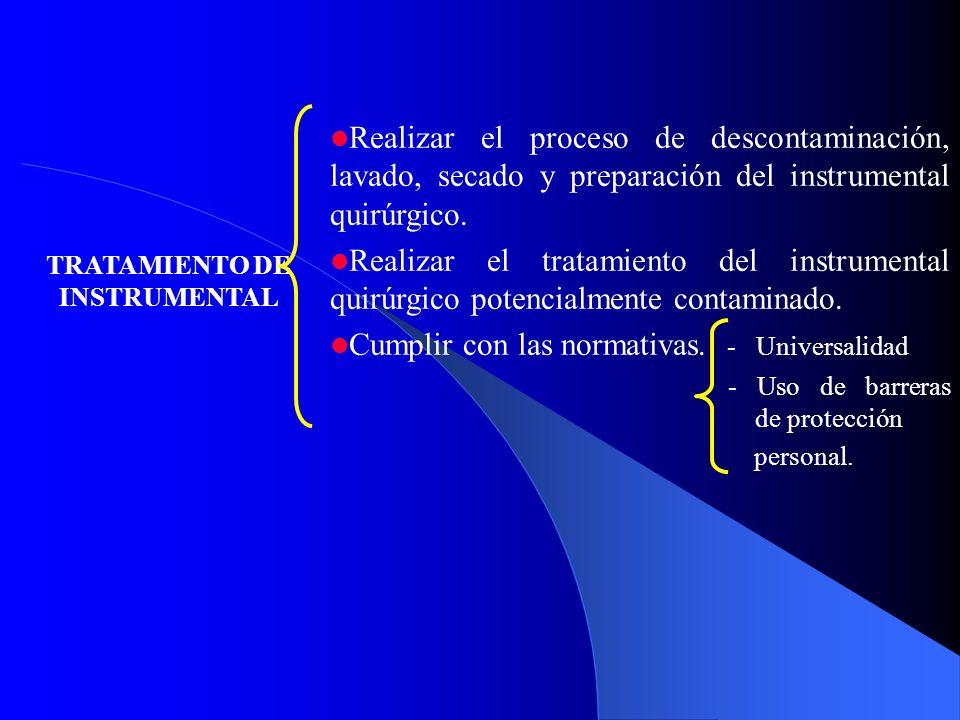 TRATAMIENTO DE INSTRUMENTAL