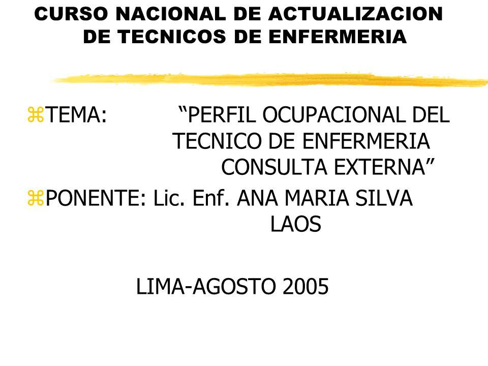 CURSO NACIONAL DE ACTUALIZACION DE TECNICOS DE ENFERMERIA