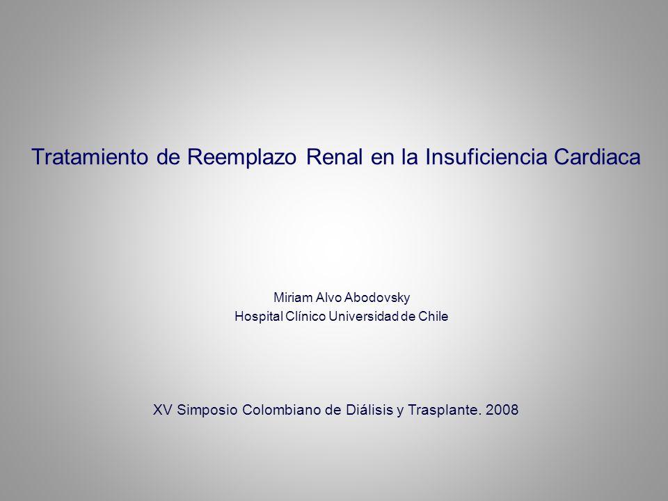 Tratamiento de Reemplazo Renal en la Insuficiencia Cardiaca