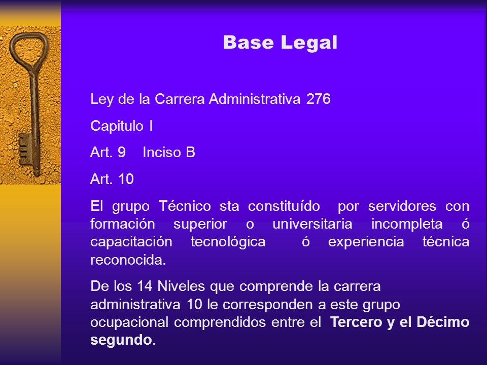 Base Legal Ley de la Carrera Administrativa 276 Capitulo I