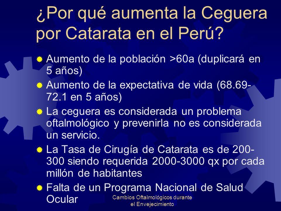 ¿Por qué aumenta la Ceguera por Catarata en el Perú