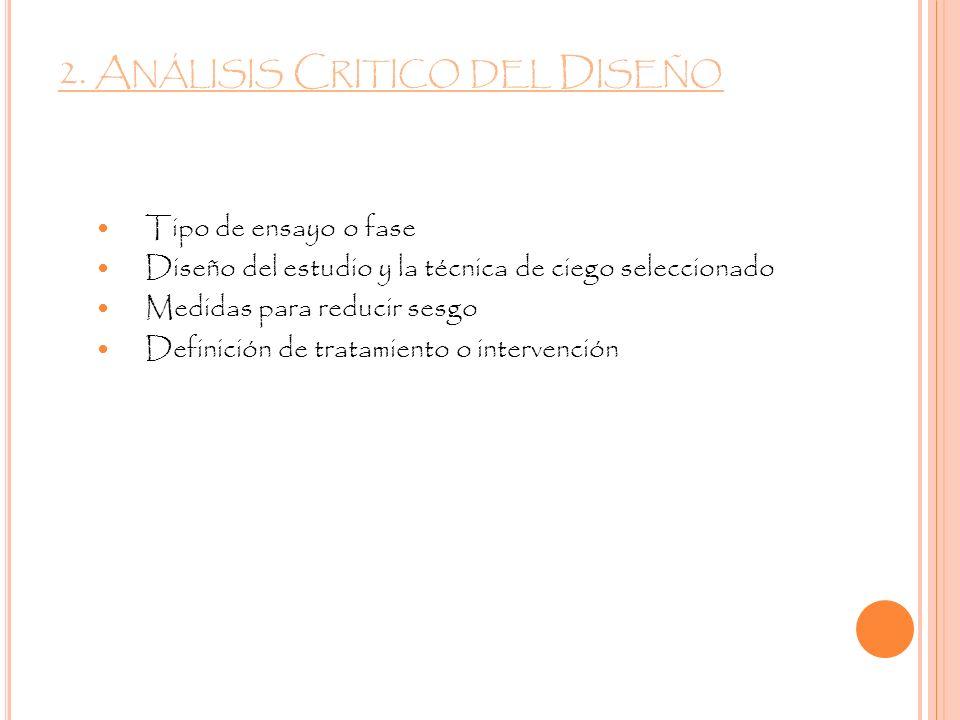 2. Análisis Critico del Diseño
