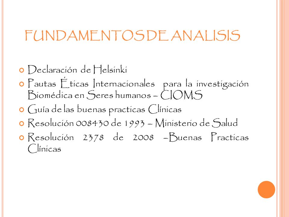 FUNDAMENTOS DE ANALISIS