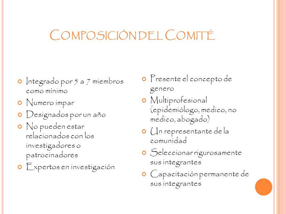 Composición del Comité