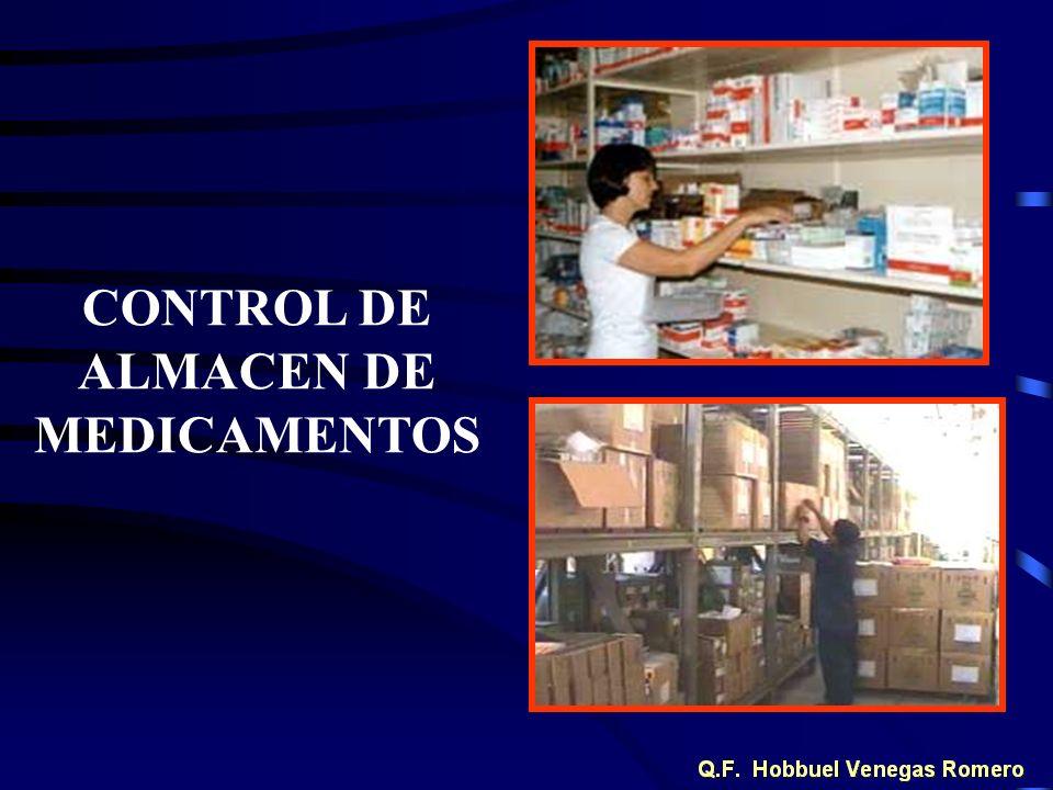 CONTROL DE ALMACEN DE MEDICAMENTOS
