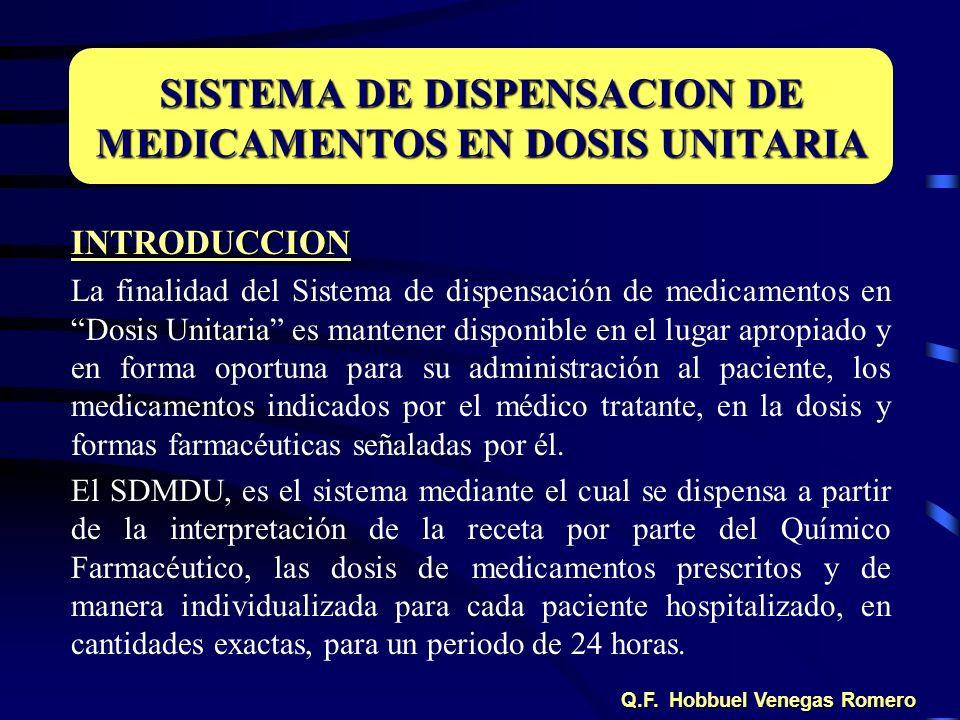 SISTEMA DE DISPENSACION DE MEDICAMENTOS EN DOSIS UNITARIA