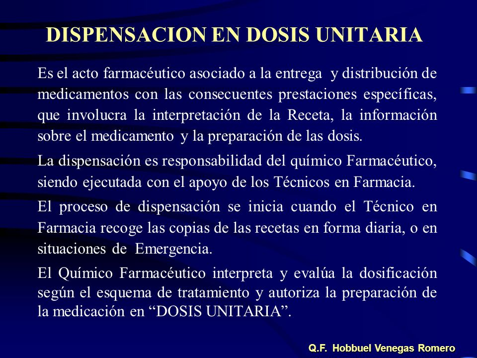 DISPENSACION EN DOSIS UNITARIA