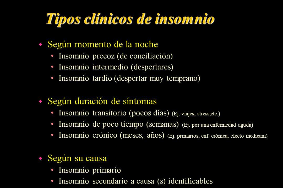 Tipos clínicos de insomnio