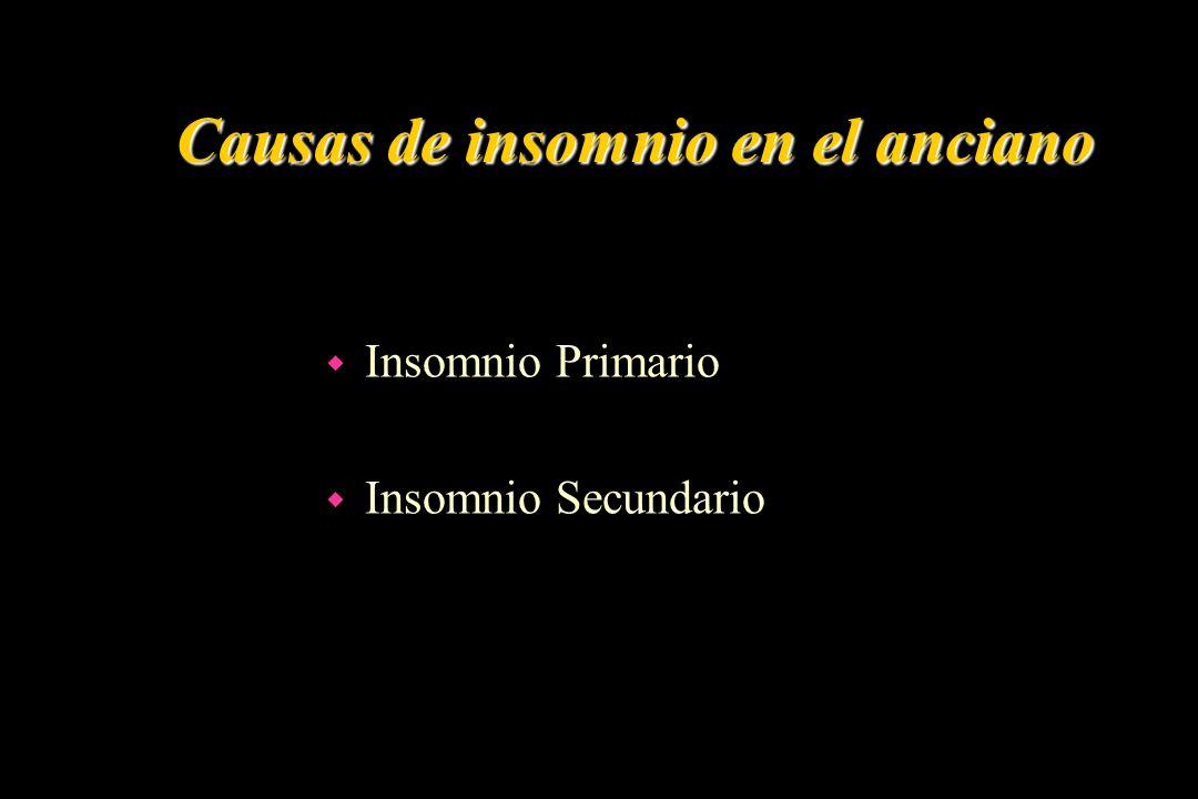 Causas de insomnio en el anciano